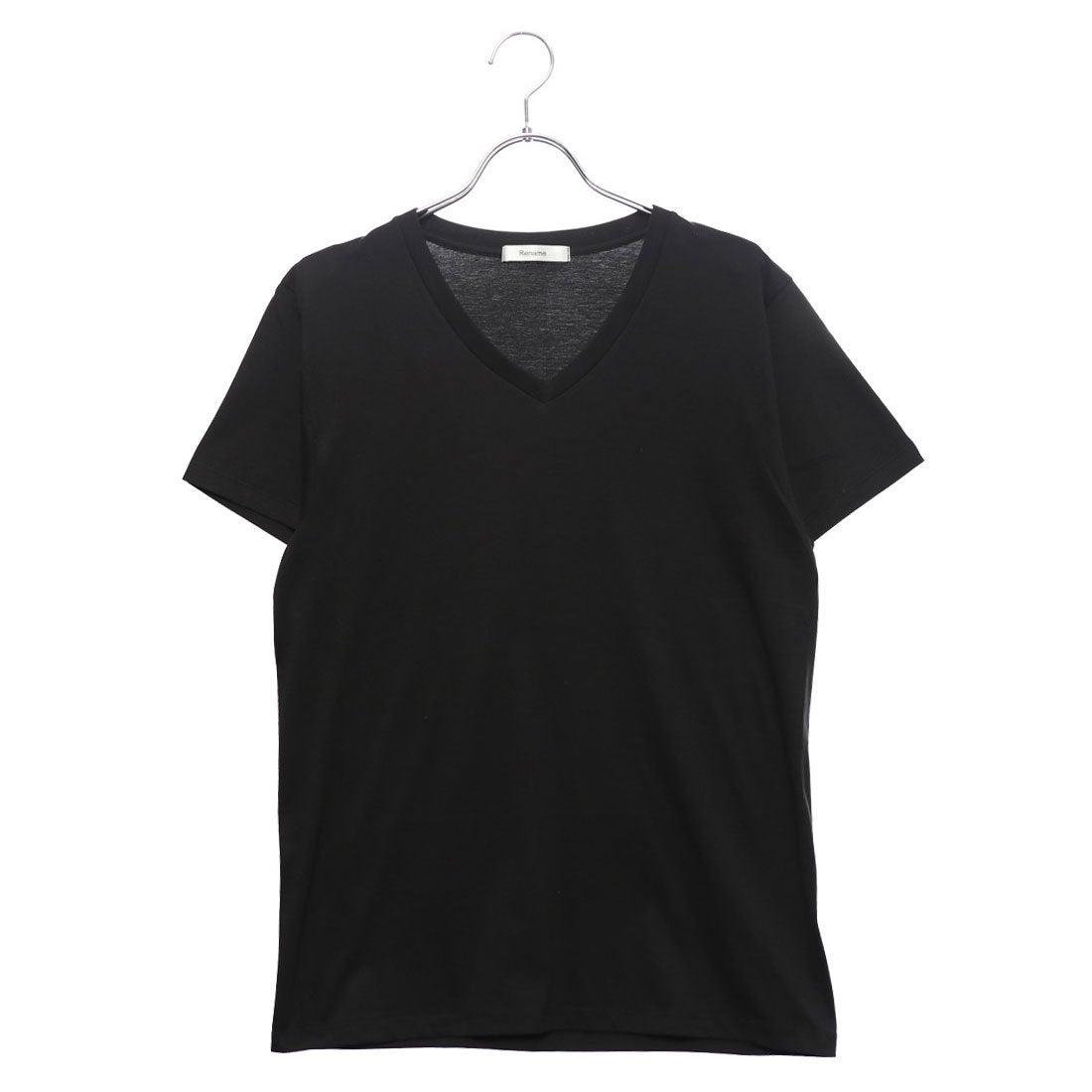 ロコンド 靴とファッションの通販サイトリネーム Rename VネックTシャツ (ブラック)