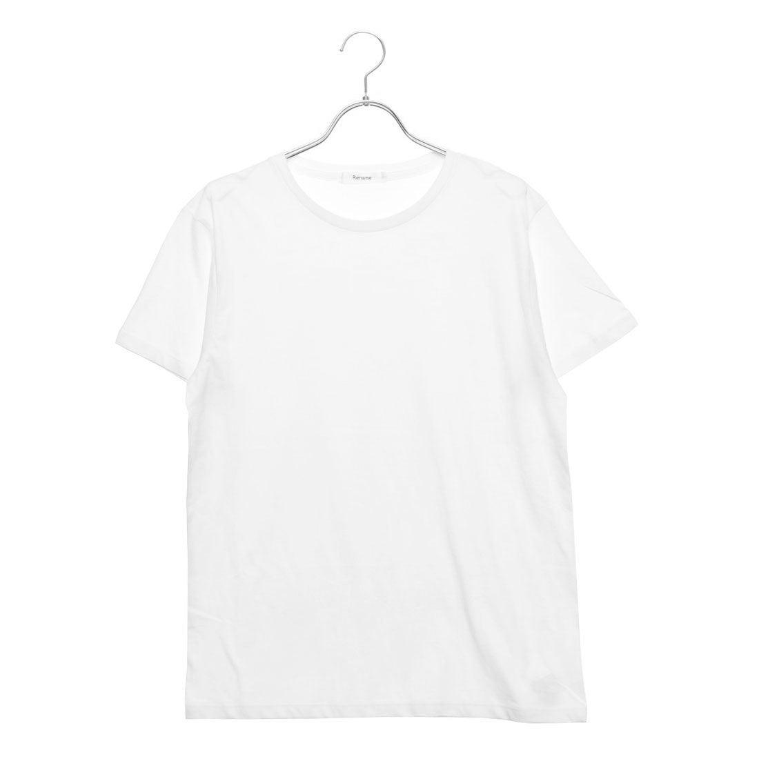 ロコンド 靴とファッションの通販サイトリネーム Rename クルーネックTシャツ (ホワイト)