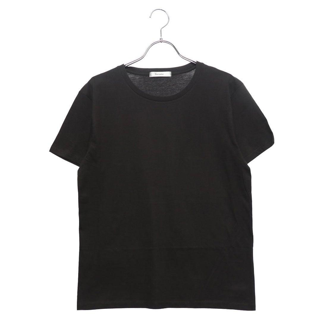 ロコンド 靴とファッションの通販サイトリネーム Rename クルーネックTシャツ (ブラック)