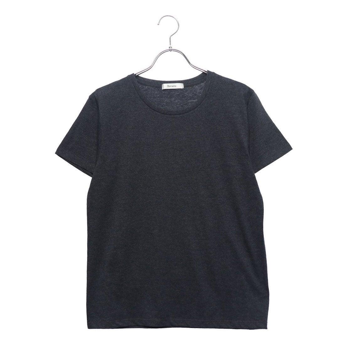ロコンド 靴とファッションの通販サイトリネーム Rename クルーネックヘビーウェイトTシャツ (ネイビー)