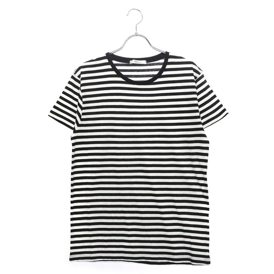 ロコンド 靴とファッションの通販サイトリネーム Rename クルーネックボーダーTシャツ (ホワイトxブラック)