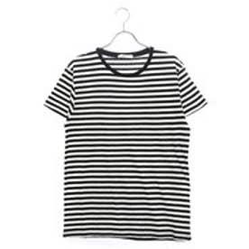 リネーム Rename クルーネックボーダーTシャツ (ホワイト×ブラック)