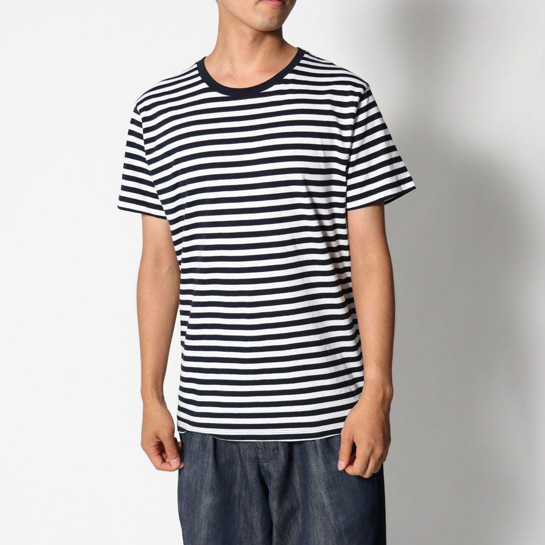ロコンド 靴とファッションの通販サイトリネーム Rename クルーネックボーダーTシャツ (ホワイトxネイビー)
