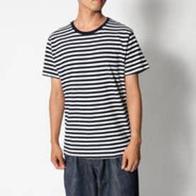 リネーム Rename クルーネックボーダーTシャツ (ホワイト×ネイビー)
