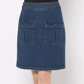 リネーム Rename インディゴ裏毛ポケットスカート (ブルー)