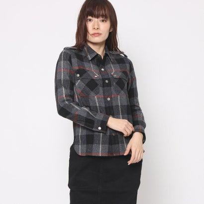 リネーム Rename ウールチェックミリタリーシャツ (グレー)