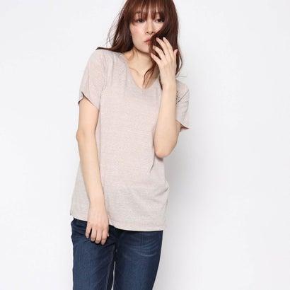 リネーム Rename 杢VネックTシャツ (ベージュ)