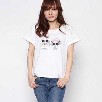 リネーム Rename ママ&ガール柄Tシャツ (オフホワイト)