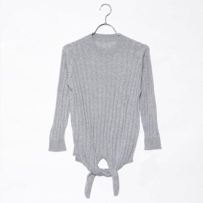 リネーム Rename 裾リボン7分袖セーター (グレー)