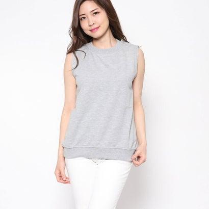 リネーム Rename ミニ裏毛モックネックプルオーバーノースリーブTシャツ (グレー杢)
