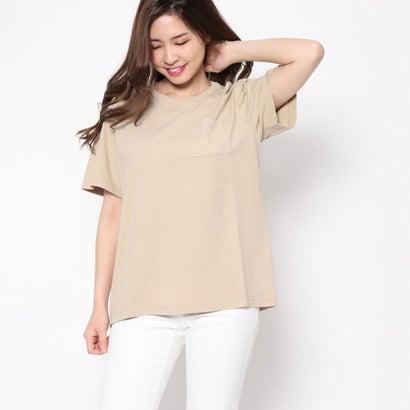 リネーム Rename ポケット付クルーネックTシャツ (ベージュ)