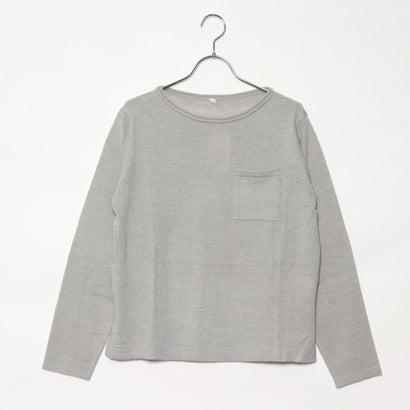 リネーム Rename 胸ポケットセーター (ライトグレーモク)