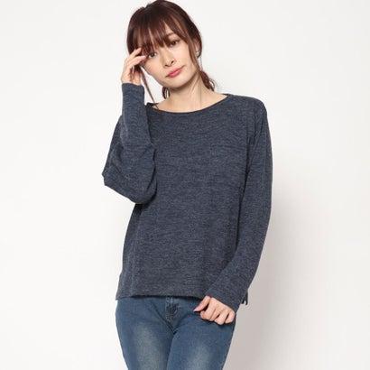 リネーム Rename 胸ポケットセーター (ネイビー杢)