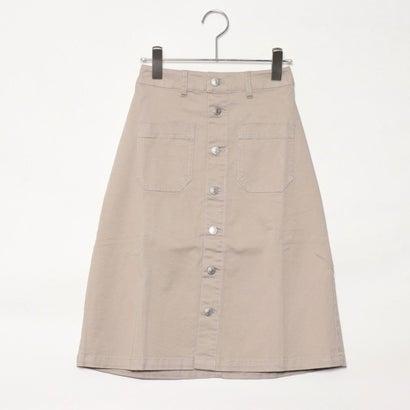 リネーム Rename 前ボタンAラインスカート (ベージュ)