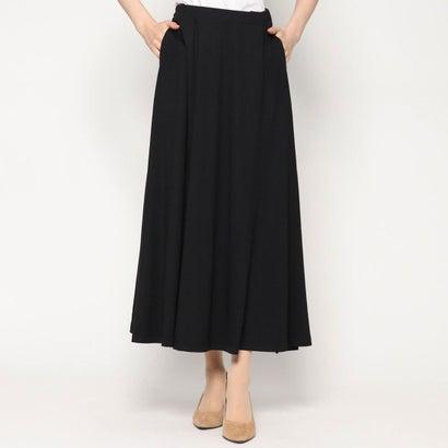 リネーム Rename レーヨン混ロング丈スカート (ブラック)