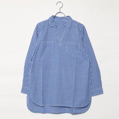 リネーム Rename ギンガムチュニックシャツ (ブルーケイ)