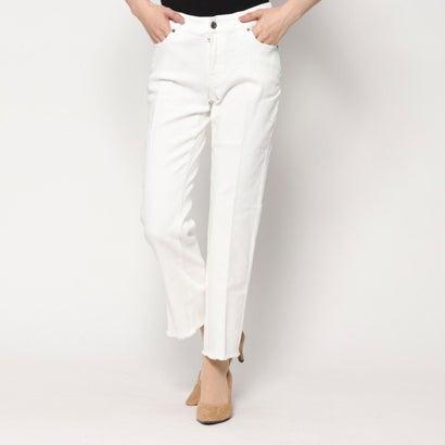 リネーム Rename 裾フレアホワイトデニムパンツ (オフホワイト)
