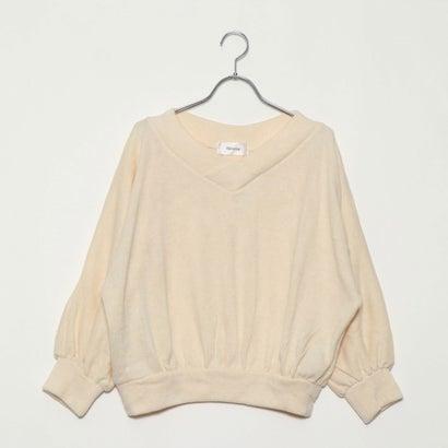 リネーム Rename パフ袖風Vネックセーター (オフホワイト)
