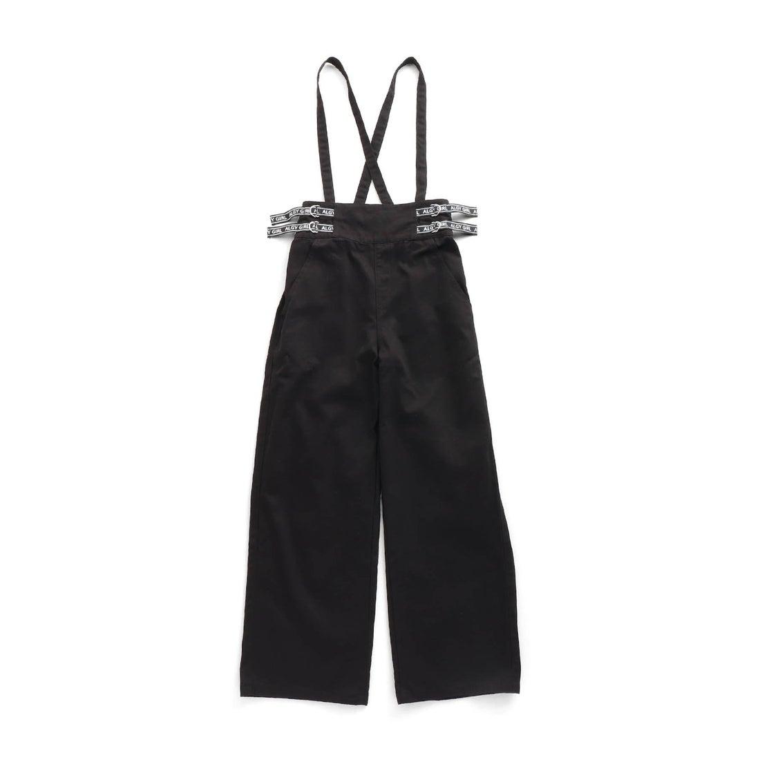ロコンド 靴とファッションの通販サイトアルジー ALGY サス付きロゴベルトワイドパンツ (ブラック)