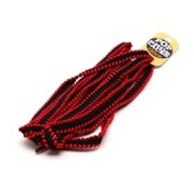 シューレース SHOELACE 10mmステッチシューレース (BLACK/RED)