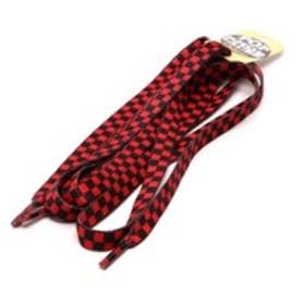 シューレース SHOELACE 10mm シューレース CHEKER プリント (BLACK/RED)