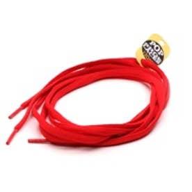 シューレース SHOELACE 8mmオーバルシューレース (RED)