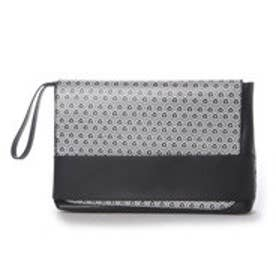 フォーパ パリ FAUX PAS PARIS Monogram Clutch Bag (Black)