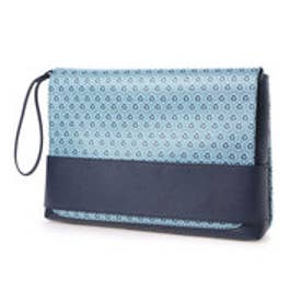 フォーパ パリ FAUX PAS PARIS Monogram Clutch Bag (Navy)