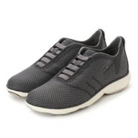 ジェオックス GEOX SNEAKERS (BLACK/GREY)