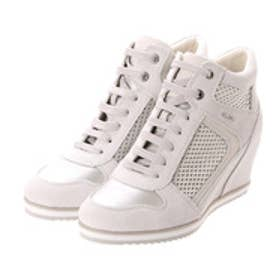 ジェオックス GEOX SNEAKERS (OFF WHT/PLATINUM)