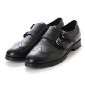 ジェオックス GEOX SHOES (BLACK/GUN)