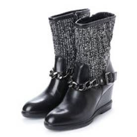 ジェオックス GEOX ANKLE BOOTS (BLACK/WHITE)