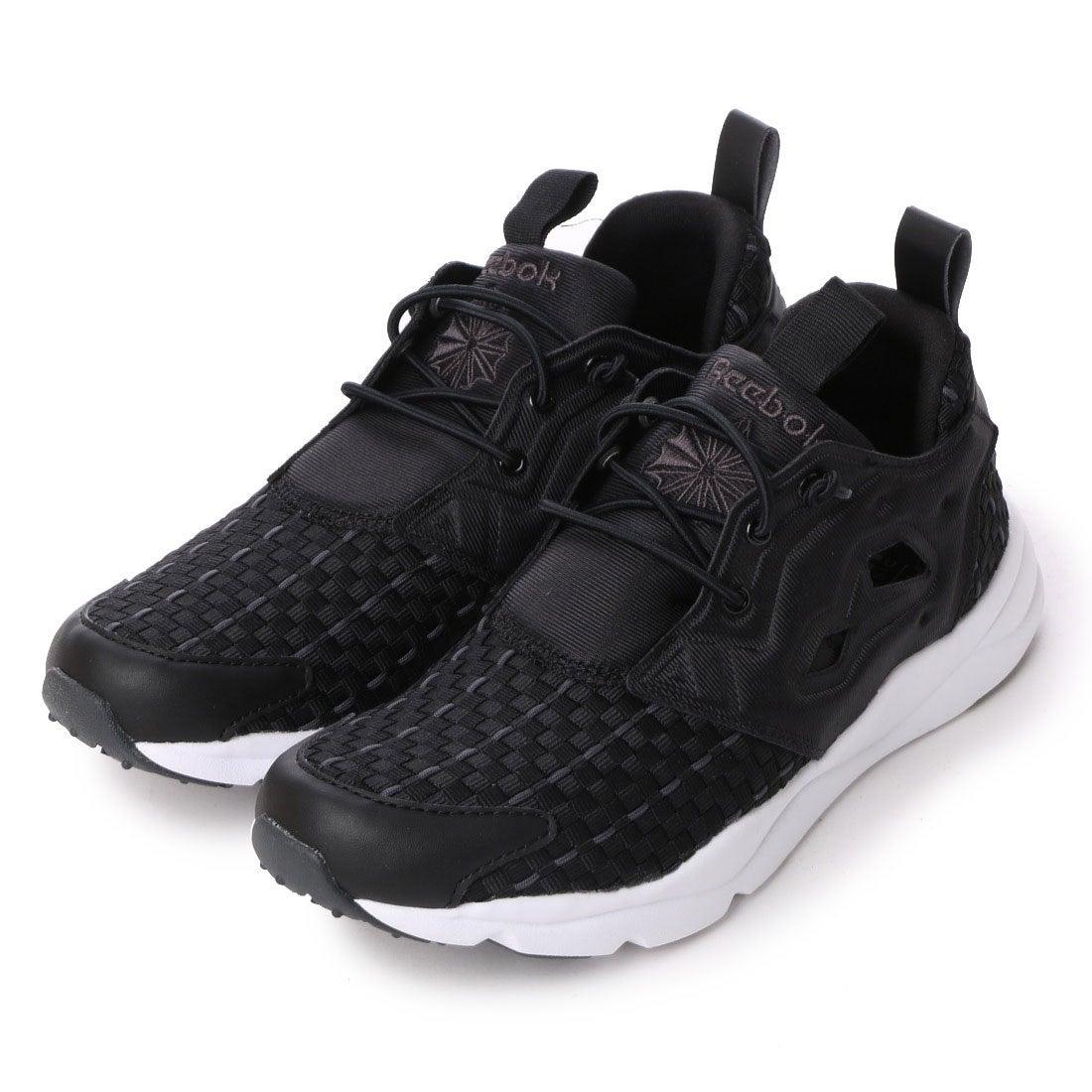b75a45c9844 リーボック REEBOK FURYLITE NEW WOVEN(フューリーライトニューウーブン) V70798  (ブラック DGHソリッドグレー ホワイト レディース ) -靴&ファッション通販 ...