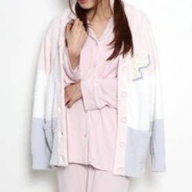 ジェラートピケ gelato pique ベビモコ3BDサガラ刺繍ショールカーディガン (ピンク)
