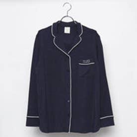 ジェラートピケ gelato pique モダールパジャマシャツ (ネイビー)
