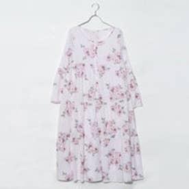 ジェラートピケ gelato pique 大花柄マエアキドレス (ピンク)