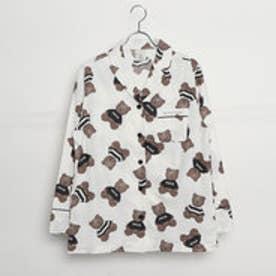 ジェラートピケ gelato pique テディベアガラパジャマシャツ (オフホワイト)
