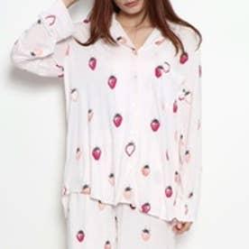 ジェラートピケ gelato pique いちご柄シャツ (ピンク)