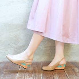 エンチャンテッド enchanted ステンドヒールストラップパンプス(ピンク)