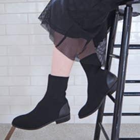 エンチャンテッド enchanted ローヒールソックスブーツ (ブラック)