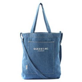 ゲス GUESS DENIM TOTE BAG (DARK BLUE)