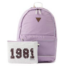 ゲス GUESS 1981 MESH LETTERING BACKPACK (VIOLET)