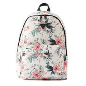 ゲス GUESS FLOWER PRINT BACKPACK (IVORY)