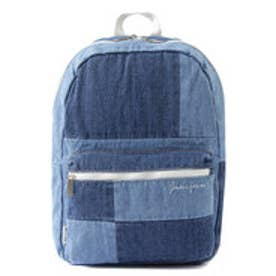 ゲス GUESS PATCHWORK DENIM BACKPACK (BLUE)