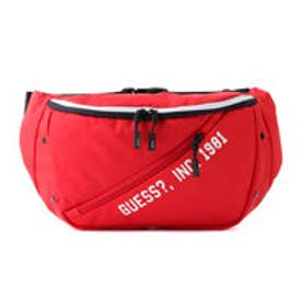 ゲス GUESS CASUAL LETTERING WAIST BAG (RED)