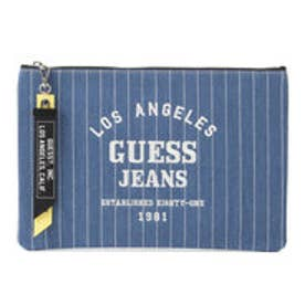 ゲス GUESS EMBROIDERY DENIM CLUTCH BAG (LIGHT BLUE)