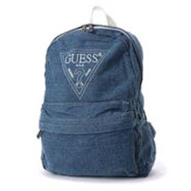 ゲス GUESS EMBROIDERY TRIANGLE LOGO DENIM BACK PACK (BLUE)