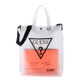 ゲス GUESS TRIANGLE LOGO CLEAR TOTE BAG (ORANGE)
