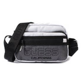 ゲス GUESS LOGO MESH CROSSBODY BAG (WHITE)