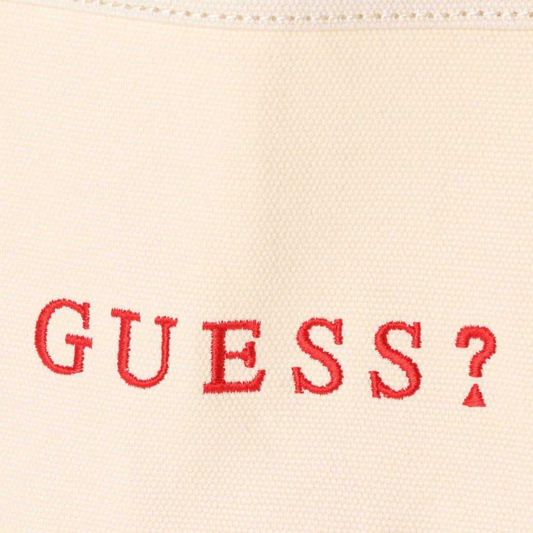 810748d76ab3 ゲス GUESS SMALL CANVAS TOTE BAG【JAPAN EXCLUSIVE ITEM】 (IVORY ...